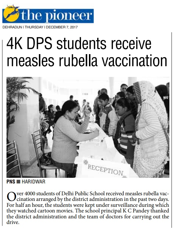 Vaccination of Measles Rubella ( The Pioneer)