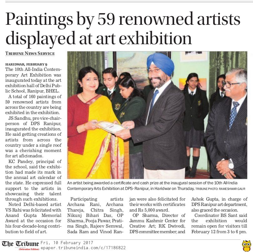 10th ALL INDIA CONTEMPORARY ART EXHIBITION 2017